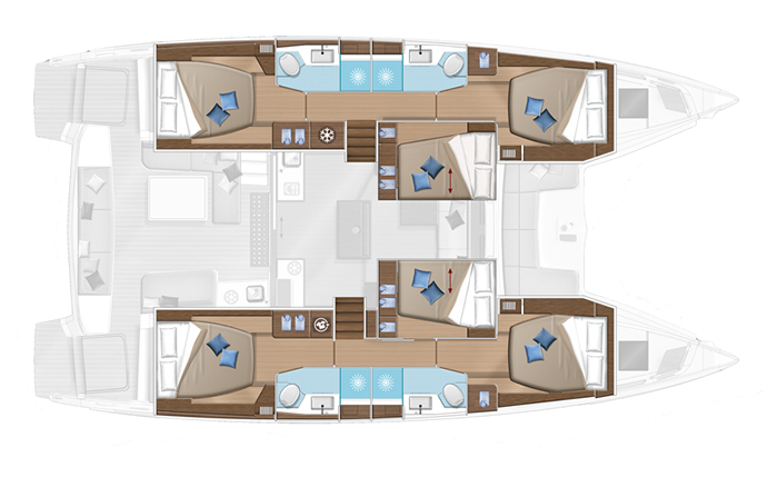 Plan catamaran Lagoon 50